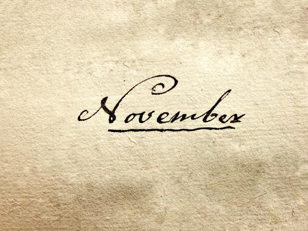 annals: 100 years old handwritten november