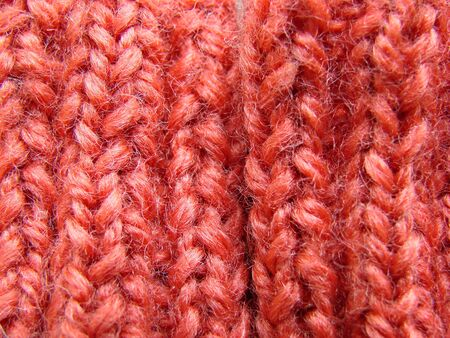 red wool texture Stock Photo