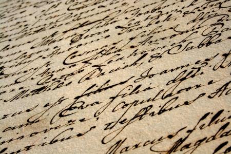 ビンテージの手書きの手紙 写真素材