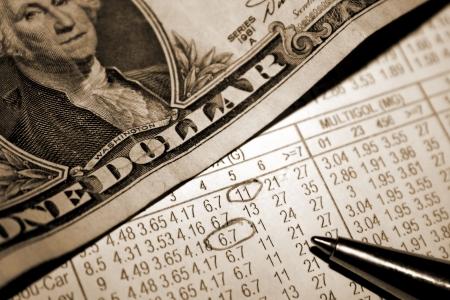 punter: Betting Slip with Dollars