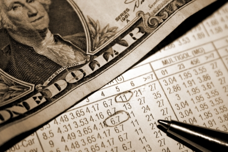 Betting Slip with Dollars