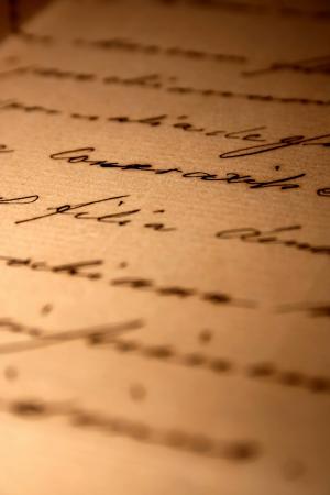 ビンテージ手書きのラブレター 写真素材