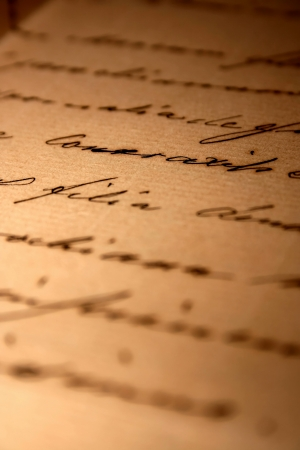 vintage handwritten love letter Stock Photo