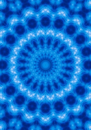 chakra energy: abstract blue background Stock Photo