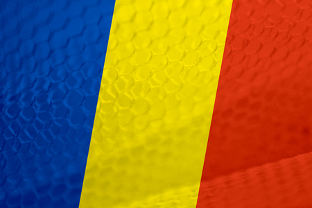 romanian: Romanian flag abstract