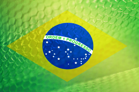 Brazilian flag abstract Stock Photo