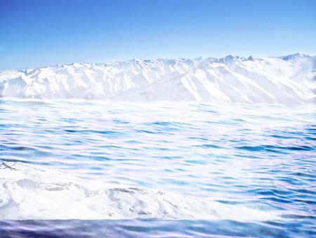 melting ice: fusi?n del hielo Foto de archivo