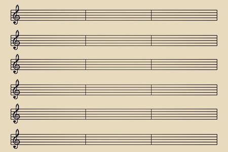 music sheet Reklamní fotografie