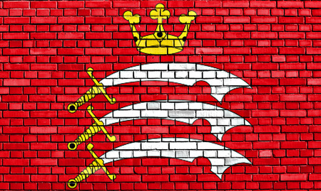 middlesex: flag of Middlesex painted on brick wall Stock Photo