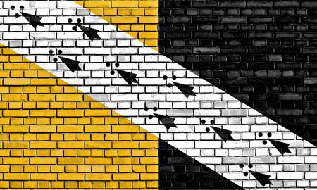 flag of Norfolk painted on brick wall Stock Photo