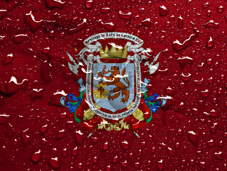 caracas: flag of Caracas with rain drops