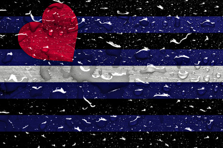 flag of Leather Pride with rain drops
