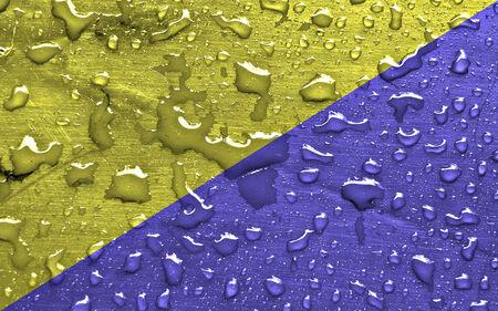 flag of Ruda Slaska with rain drops Reklamní fotografie