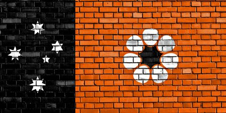 flag of Northern Territory painted on brick wall