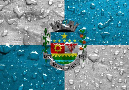 nova: flag of Nova Iguacu with rain drops
