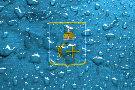 sumy: flag of Sumy Oblast with rain drops