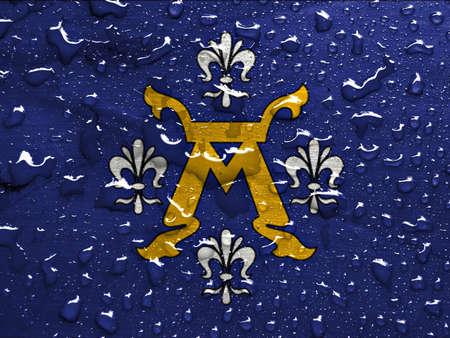 turku: flag of Turku with rain drops
