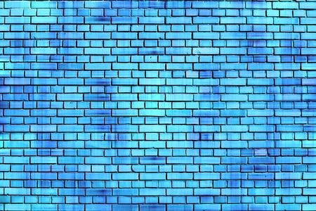 青いレンガ壁の背景 写真素材