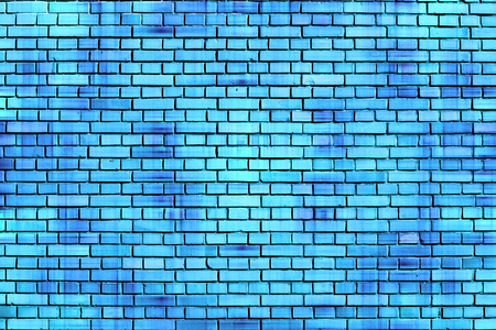 blue brick wall background