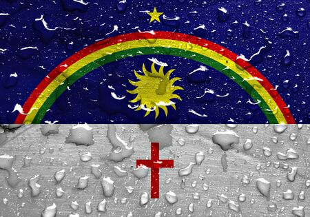 liquid state: State of Pernambuco flag with rain drops Stock Photo