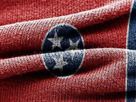 tennesse: bandera de Tennessee en la materia textil