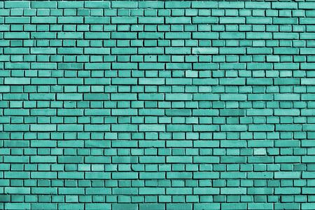 turquoise brick wall background