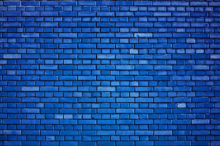 dazzling blue brick wall background Archivio Fotografico