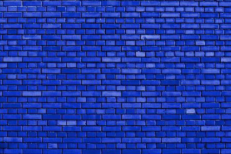 dazzling: dazzling blue brick wall background Stock Photo