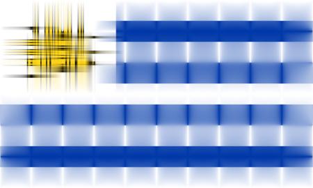 Uruguay flag: abstracto bandera Uruguay Foto de archivo