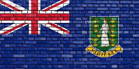 virgin islands: flag of British Virgin Islands painted on brick wall