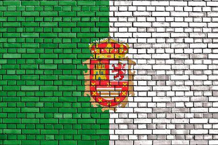 fuerteventura: flag of Fuerteventura painted on brick wall Stock Photo