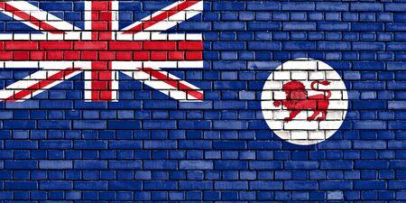tasmania: flag of Tasmania painted on brick wall