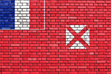 wallis: flag of Wallis and Futuna painted on brick wall
