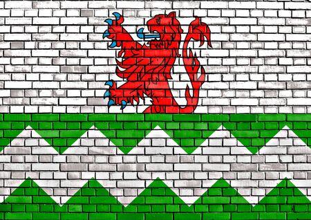 westland: flag of Westland painted on brick wall Stock Photo