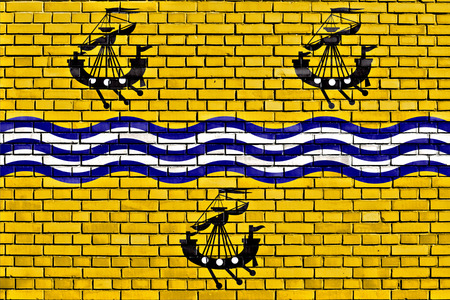 isles: flag of Western Isles Council painted on brick wall Stock Photo
