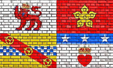 flag of Angus painted on brick wall Stock Photo