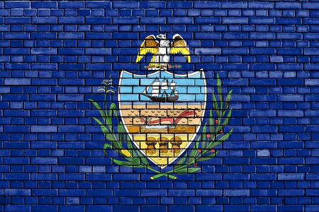 allegheny: flag of Allegheny County painted on brick wall Stock Photo
