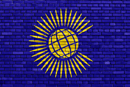 nations: flag of Commonwealth of Nations painted on brick wall Stock Photo