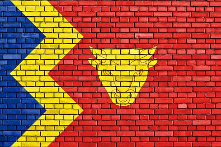 birmingham: flag of Birmingham painted on brick wall Stock Photo