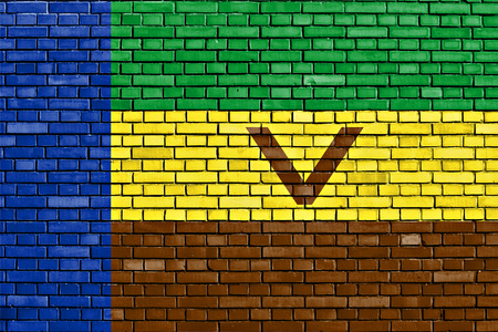 flag of Venda painted on brick wall Imagens