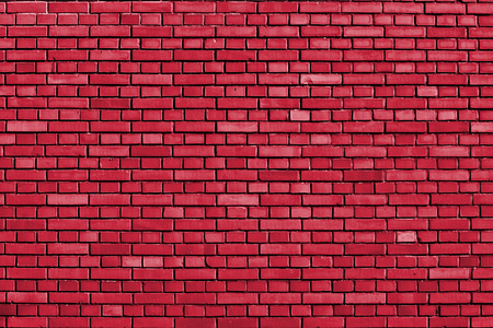true red colored brick wall background