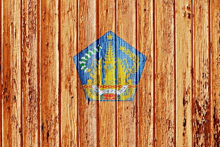 bali province: flag of Bali painted on wooden frame