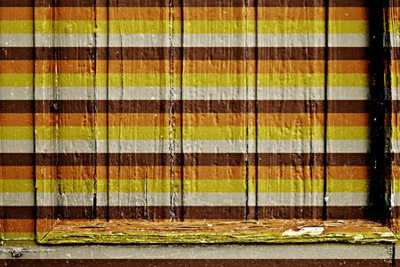 floorboard: wooden frame with retro stripes
