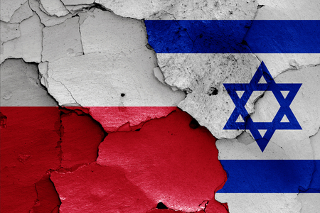flags of Poland and Israel
