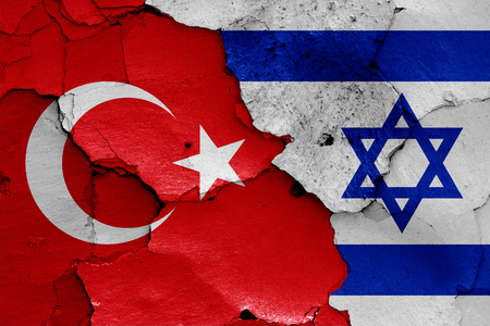 flags of Turkey and Israel