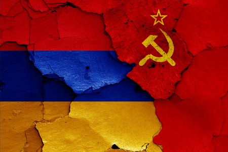 flags of Armenia and Soviet Union