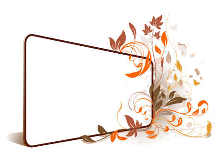 flower perspective frame Illustration