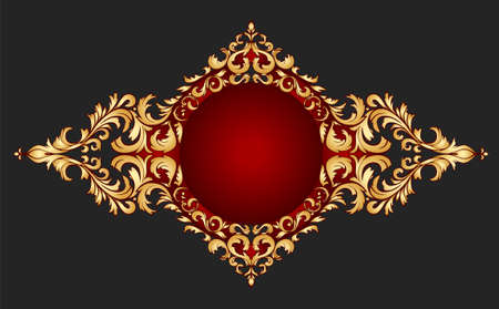 golden frame classical style Vector