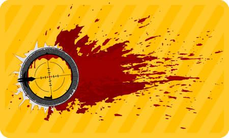 doelstelling met rode druppels voor design