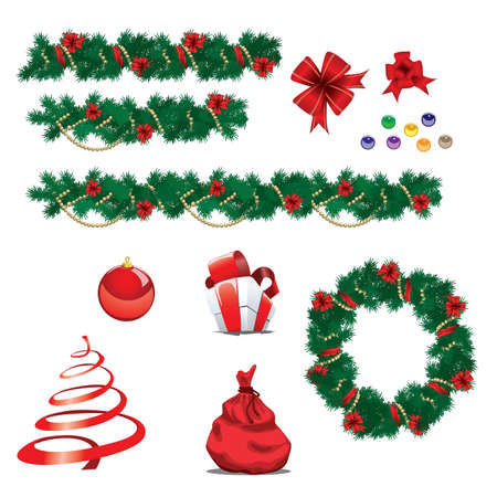 Set of christmas ornaments